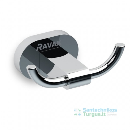 Dvigubas kabliukas RAVAK Chrome CR 100.00